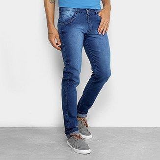 8e60e1d01bfde Calça Skinny Coffee Jeans Amaciado Masculina