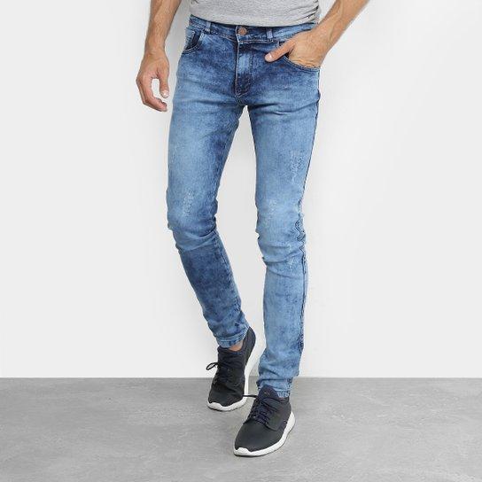 Calça Jeans Skinny Coffee Marmorizada Masculina - Azul - Compre ... a7ac8c0e54d9b