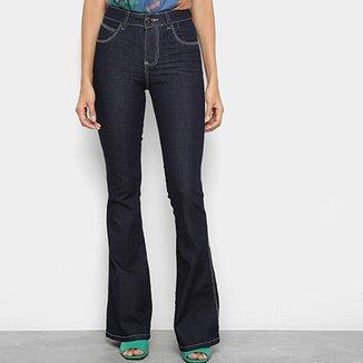 20c14014c Calça Jeans Flare Coffee Cintura Média Feminina