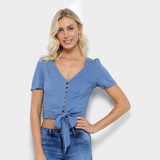 dcc204e981fc24 Blusa Cropped Estampada Poá Acrobat Laço Feminina - Compre Agora ...