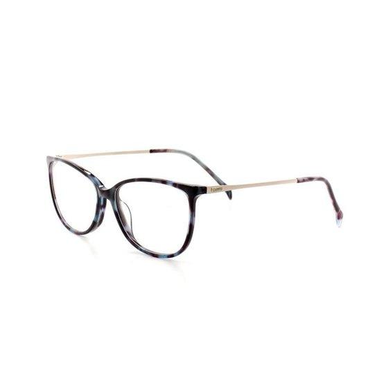 Armação De Óculos De Grau Cannes 2991 T 53 C 3 Marmorizado Feminino - Azul 92cfe87243