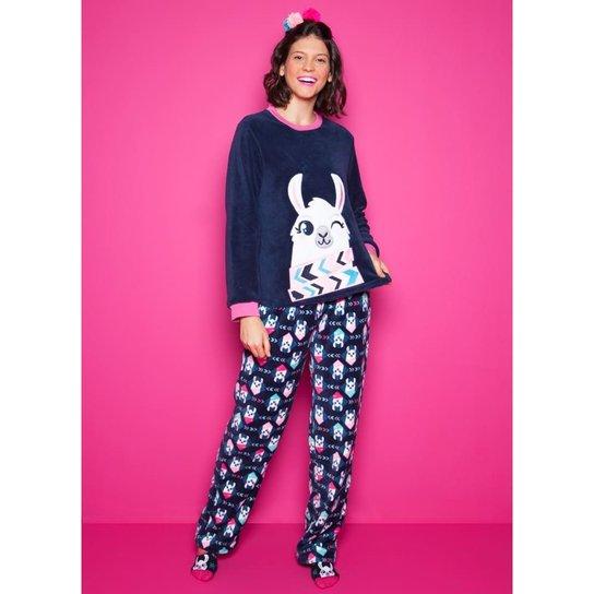 448fea042 Pijama Soft Lhama Adulto Puket   Zattini