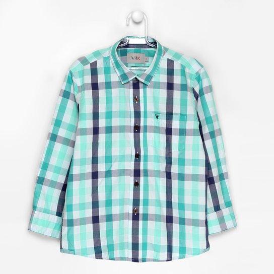 6524b3c595 Camisa VR Kids Xadrez Infantil - Compre Agora
