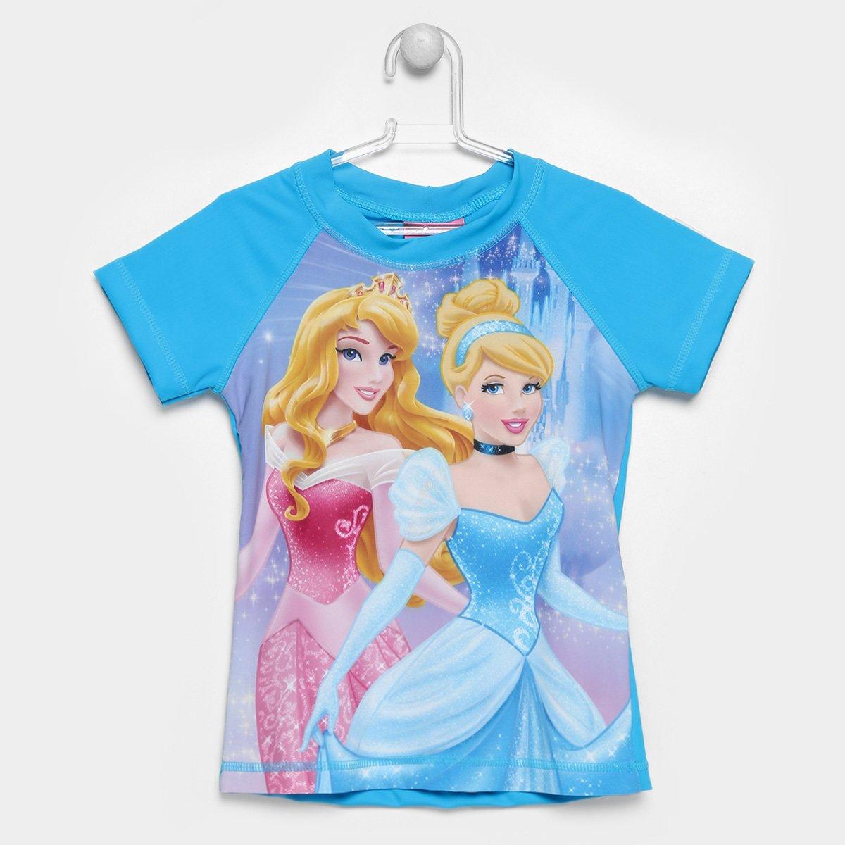 Camiseta Infantil Tip Top Princesas Proteção UV Feminina