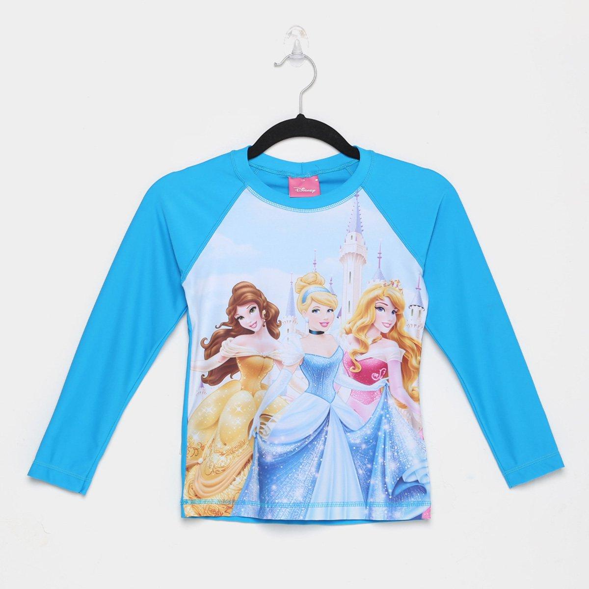 Camiseta De Praia Infantil Tip Top Disney Ml Princesas Feminina