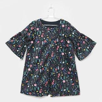 642a6ffc9f Casaco Infantil Lilica Ripilica Estampado Floral Feminina