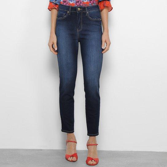3243edaac6ac53 Calça Jeans Skinny Sommer Elis Cropped Cintura Média Feminina - Azul Escuro