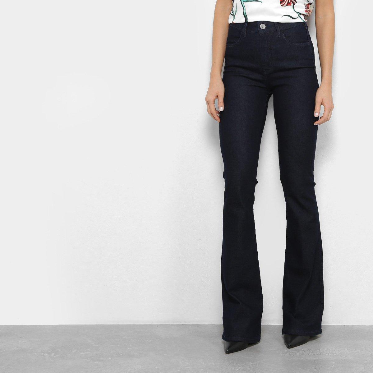 Calça Jeans Sommer Flare Cintura Alta Feminina
