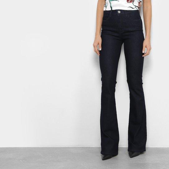 d323ec4b8 Calça Jeans Sommer Flare Cintura Alta Feminina - Azul Escuro