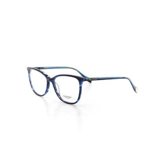 Armação De Óculos De Grau Ana Hickmann 6340 T 54 C E01 Feminino - Azul b6bd0a1a8d