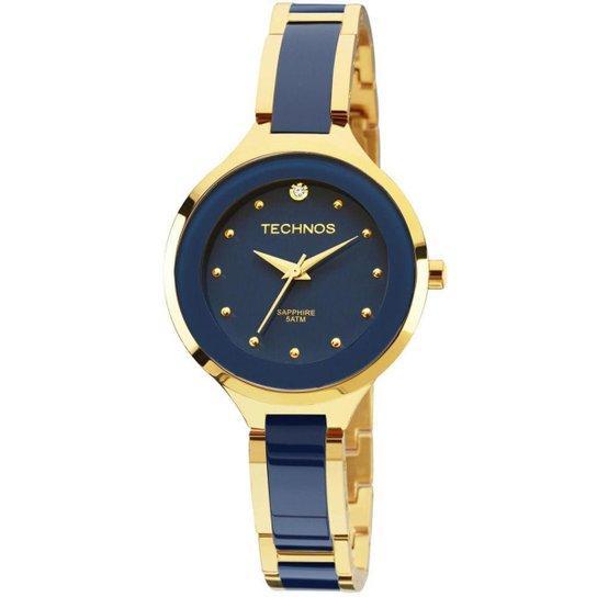 Relógio Technos Ceramic Feminino Analógico - 2035LYV 4A 2035LYV 4A - Azul 06b3fc4132