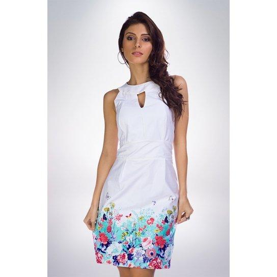 704d05e81 Vestido Tecido Estampado Mercatto   Zattini