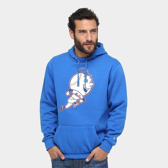 Moletom New Era MLB New York Mets Vintage Masculino - Azul - Compre ... fb68d5963c1