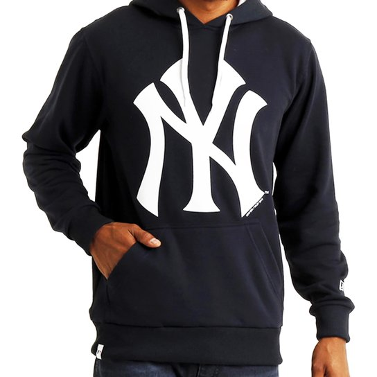 Moletom New Era Mlb Ny Yankees Basic Canguru - Azul - Compre Agora ... 6b7232712a6