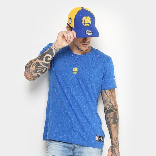 Camiseta NBA Golden State Warriors New Era Mini Logo Masculina - Azul 5caedbe941460