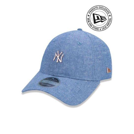 Boné 920 New York Yankees MLB Aba Curva New Era - Azul - Compre ... 1eb5076e3fa