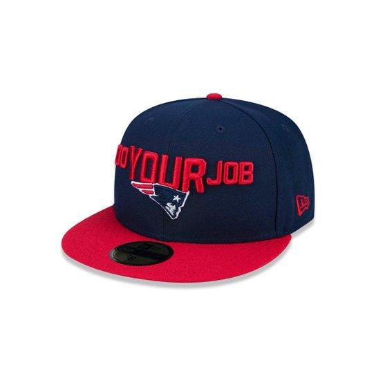 421742361 Boné 5950 New England Patriots NFL Aba Reta New Era - Azul - Compre ...