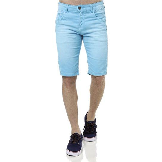 ce15b1b85 Bermuda Jeans Masculina Rock & Soda Azul   Zattini