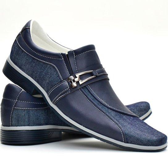 c19db4037 Sapato Casual Masculino c  Jeans Florense - Azul - Compre Agora ...
