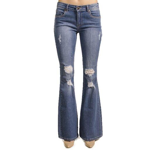 fde1dc73f Calça Jeans Flare Destroyed Alphorria - Azul | Zattini