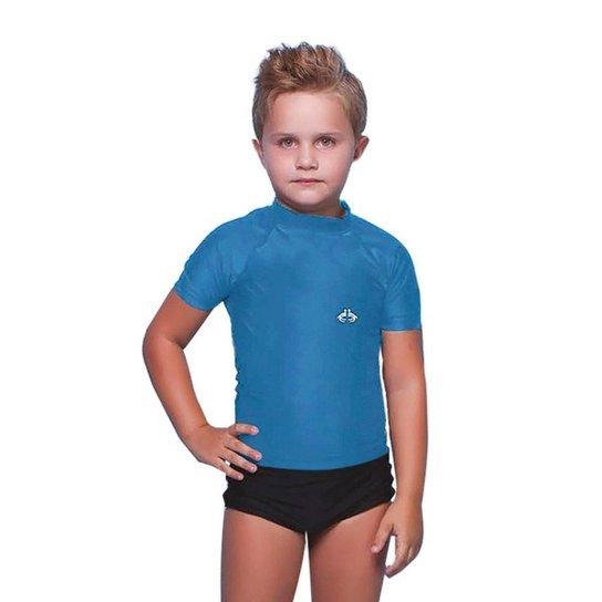 Camiseta Infantil Siri Com Proteção Solar Masculino - Azul - Compre ... f255d8db9c7