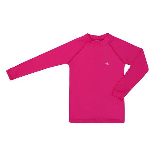 Camiseta Infantil Kids Proteção UV 50+ Siri Feminina - Rosa e Pink ... 52166d1cd60d3
