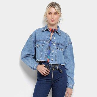 39ca8b1f14048 Jaqueta Jeans Lez a Lez Cropped Retrô Feminina