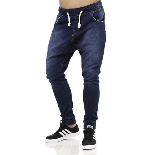 a70718786 Calça Jeans Moletom Masculina Gangster Azul - Compre Agora