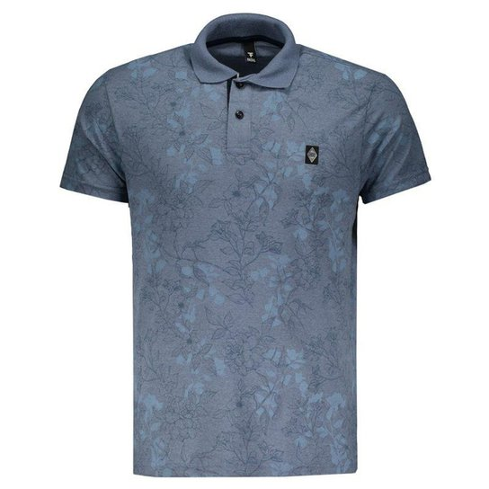 49bed08d5c776 Polo Fatal Especial Floral Masculina - Azul