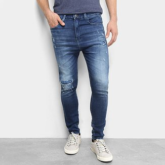 4cd65b98d Calça Jeans Skinny Fatal Rocker Destroyed Masculina