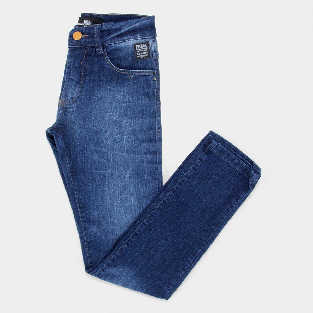 Calça Jeans Slim Juvenil Fatal Masculina