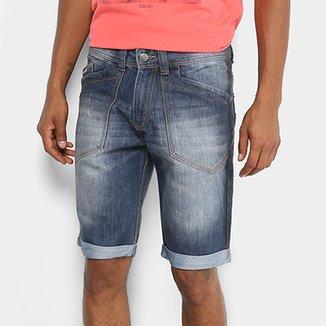 Bermuda Jeans Biotipo Estonada Barra Dobrada Masculina 43045d151c647
