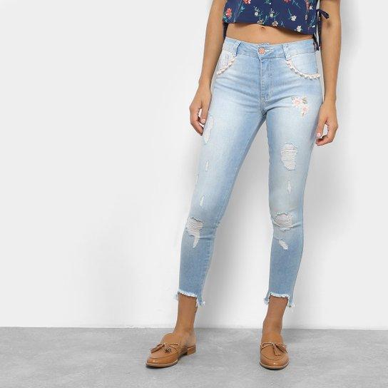 e1d3a9d40e870f Calça Jeans Cigarrete Cropped Biotipo Cintura Média Feminina - Azul ...