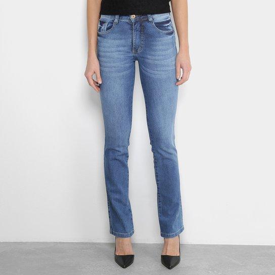 54604aadc3 Calça Jeans Biotipo Reta Feminina - Azul