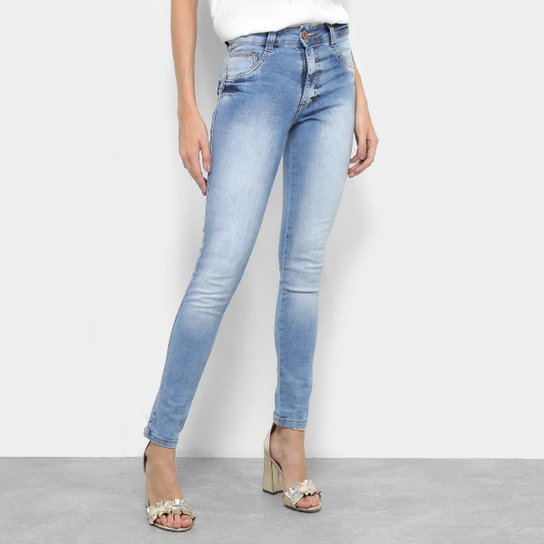 3d81b497c1 Calça Jeans Skinny Biotipo Melissa Estonada Cintura Média Feminina - Azul