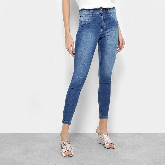 547b513be Calça Jeans Skinny Biotipo Melissa Cintura Média Feminina - Azul ...