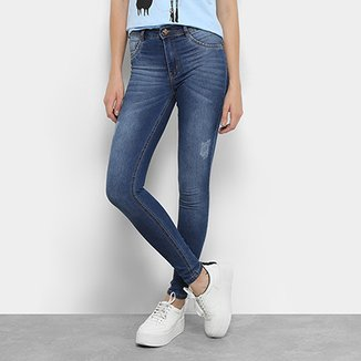 651c096a2 Calça Jeans Skinny Biotipo Melissa Cintura Média Feminina