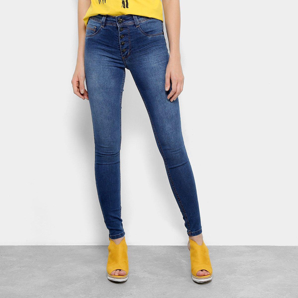 2765b05f0 Calça Jeans Skinny Biotipo Estonada Cintura Média Soft Melissa Feminina