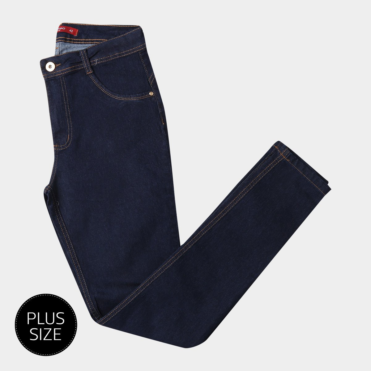 533cd2d1a Calça Jeans Skinny Biotipo Lavagem Clássica Cintura Alta Plus Size ...