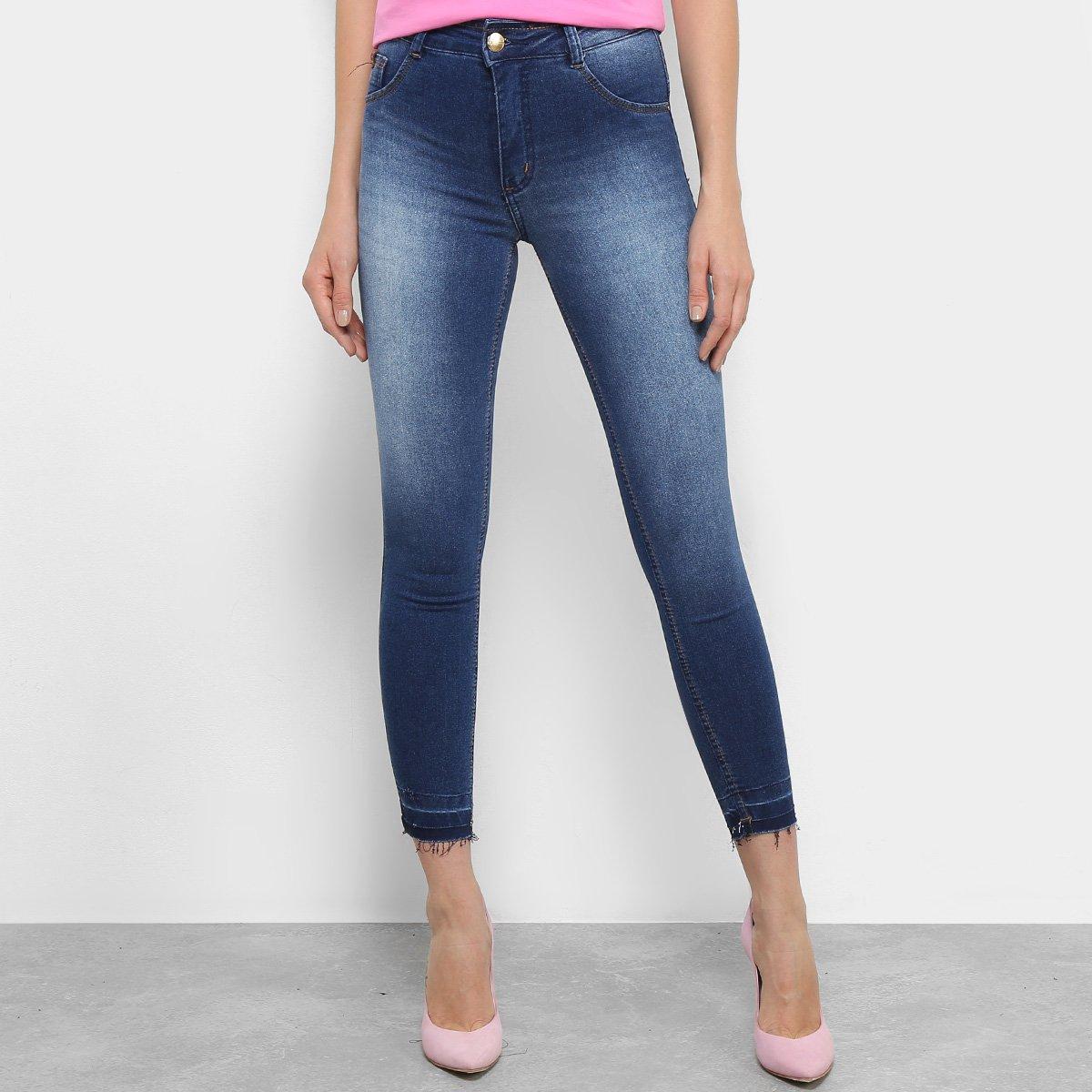 66782325c Calça Jeans Skinny Biotipo Melissa Cintura Média Soft Feminina ...
