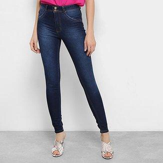 550adfc51 Calça Jeans Skinny Biotipo Estonada Cintura Média Soft Melissa Feminina
