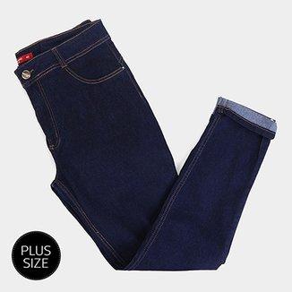 c948b66bd Calça Jeans Plus Size Biotipo Skinny Alice Cintura Alta Feminina