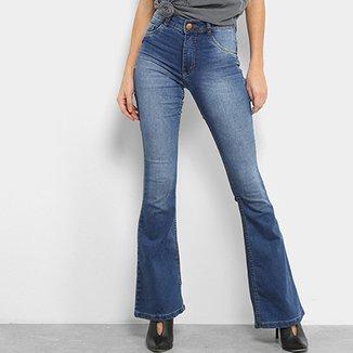 989e6fd89 Calça Jeans Flare Biotipo Melissa Soft Cintura Média Feminina