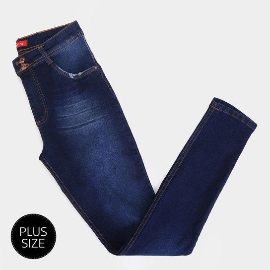 1103f91df9636e Calça Jeans Plus Size Biotipo Alice Skinny Cintura Alta Feminina - Azul