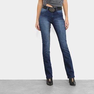 2cabd3a3f Calça Jeans Biotipo Melissa Cintura Média com Cinto Feminina