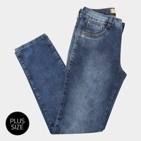 568d815db Calça Jeans Biotipo Alice Cigarrete Plus Size Feminina - Azul | Zattini