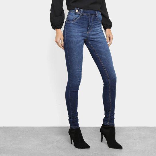 93c37493a Calça Jeans Skinny Biotipo Melissa Cintura Média Feminina - Azul ...