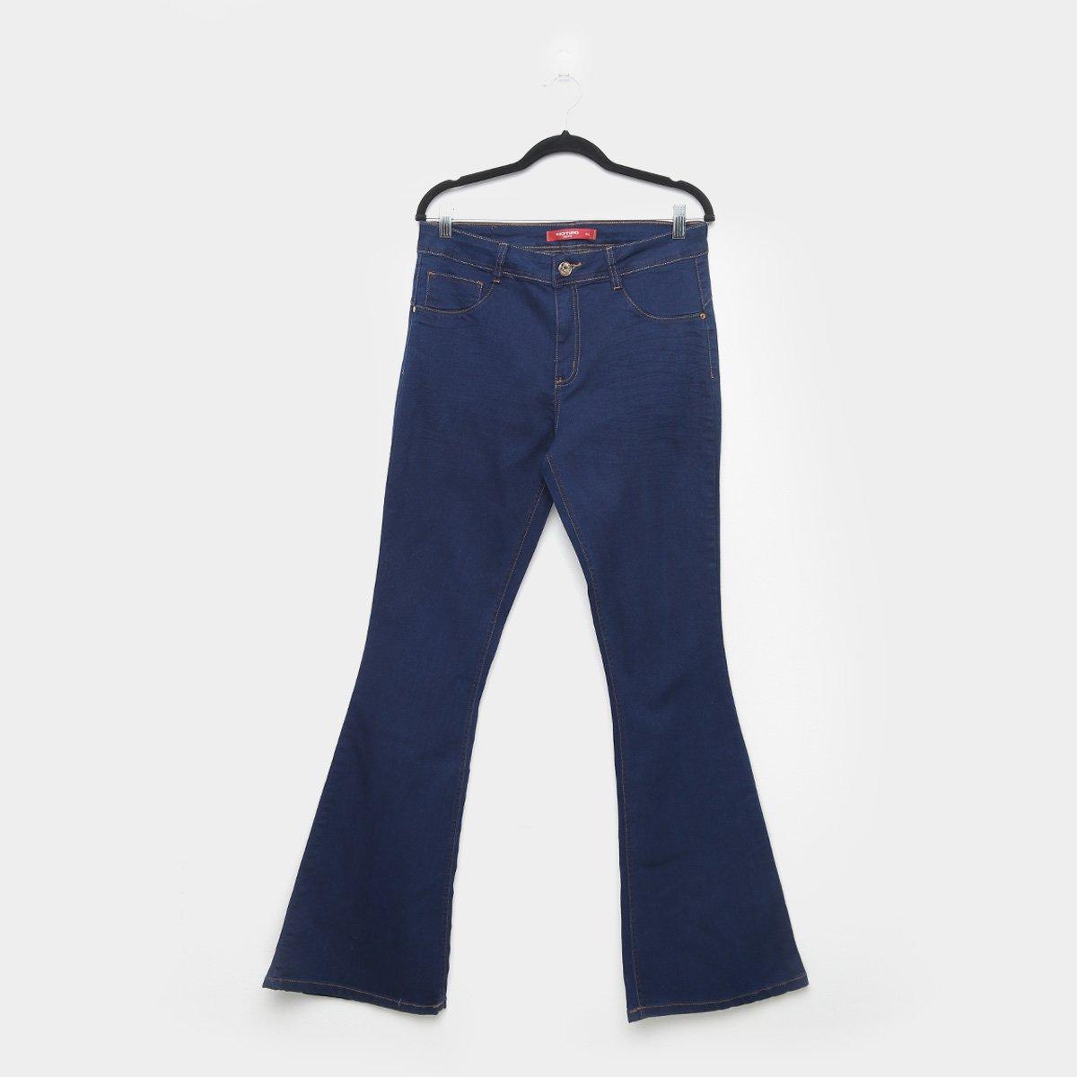 Calça Jeans Biotipo Plus Size Flare Cintura Alta Feminina