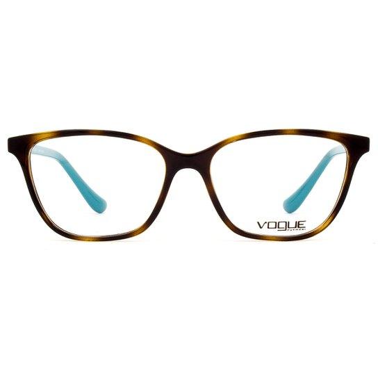 Armação Óculos de Grau Vogue Light and Shine VO5029L 2393-54 - Azul 594ccd823f