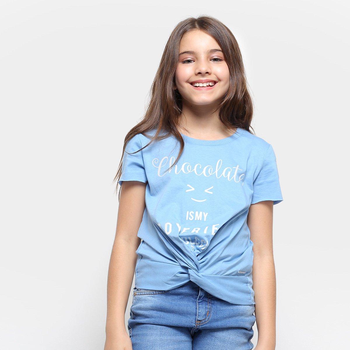 c4fdc05f1 Camiseta Infantil Colcci Fun Estampada Feminina